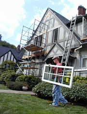 Installing New Marvin Casement Windows.